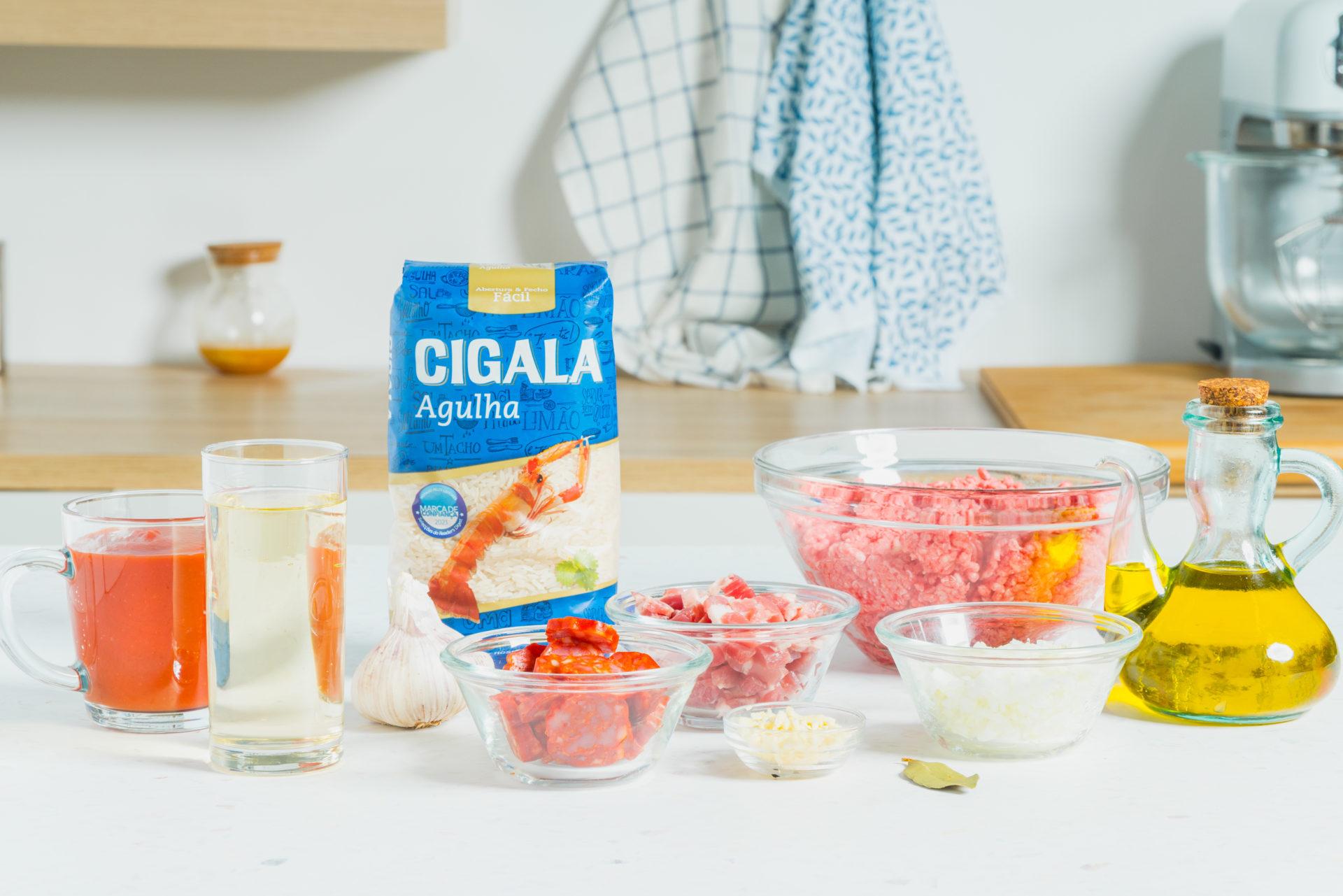 ingredientes para preparar a receita de empadão