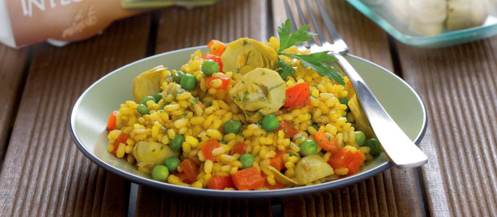 Arroz integral com legumes da cigala