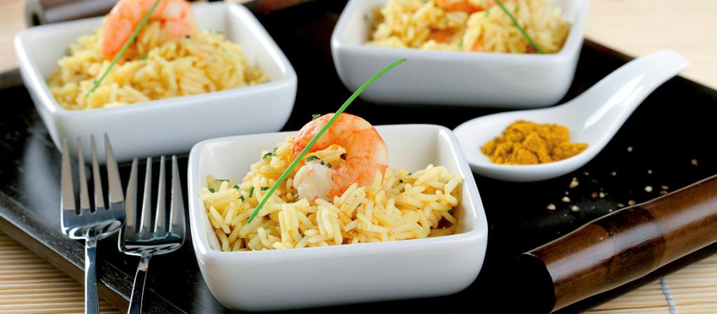 arroz de caril com cambas da cigala