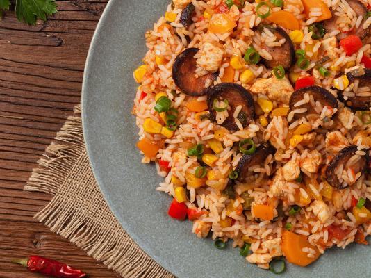 jambalaya com arroz da cigala