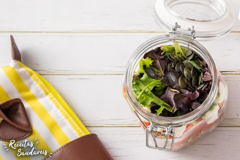 Receita de Salada Enfrascada da Patrícia Aguiar