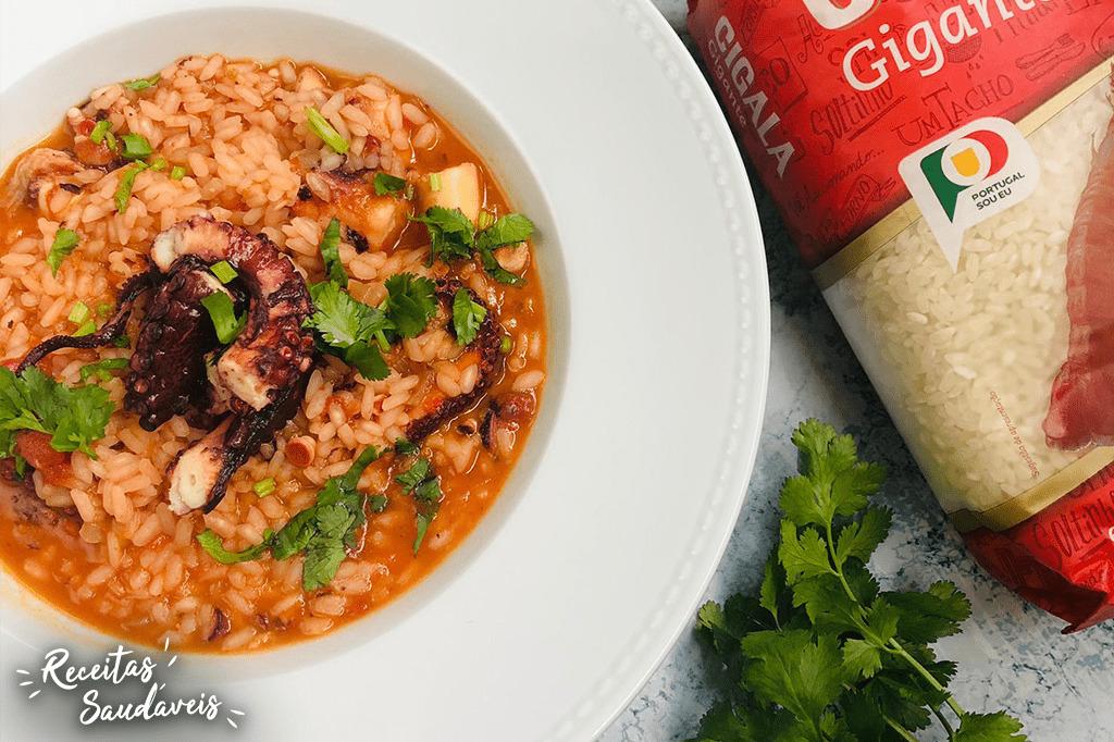 arroz de polvo com arroz gigante da cigala