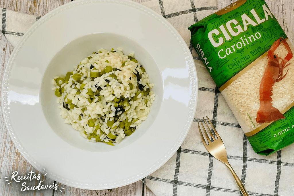 arroz de agrião de receitas saudáveis cigala
