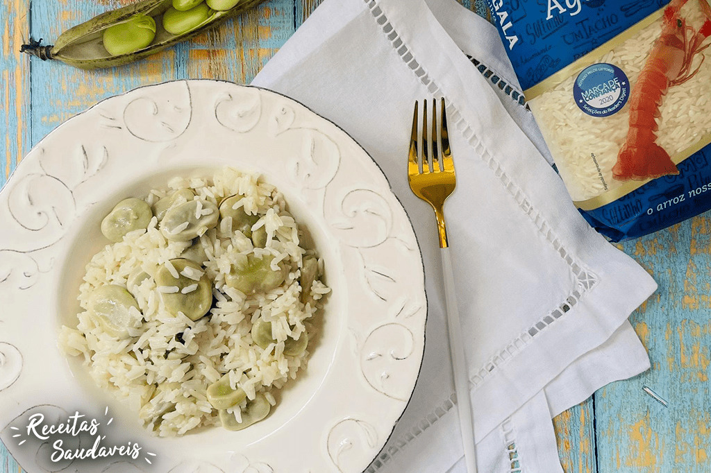 arroz de favas de receitas saudáveis