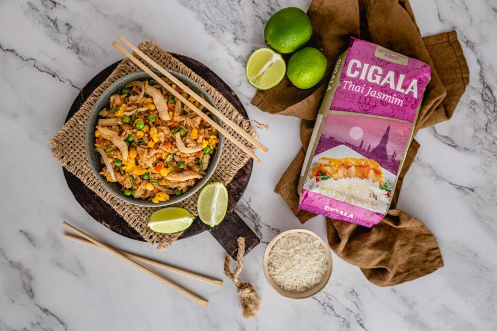 arroz frito tailandês da cigala